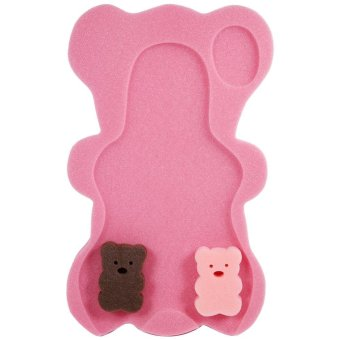 Infant Baby Bathing Pad Non-Slip Air Cushion Bathtub Mat NewBornSafety Support Shower Seat- rose red - intl