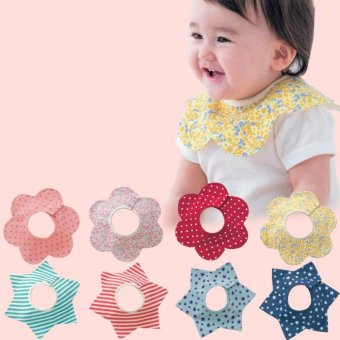 Infant Baby Bibs Kids Cotton Bandana Feeding Saliva Towel Dribble Pinny Scarf - intl