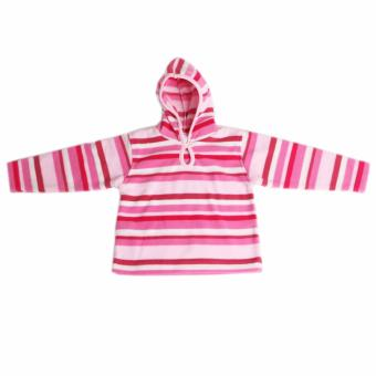 Infant Girls Stripe Hooded Jacket