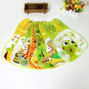 Infants Silicone Newborn Baby Bibs Toddler Feed Saliva Aprons Towel Waterproof - intl