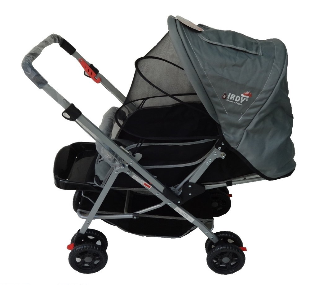 Crib and stroller for sale philippines - Irdy S0829a Stroller With Mosquito Net Gray