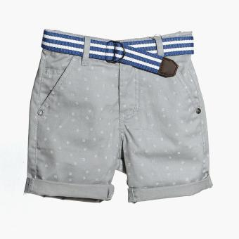 Just Jeans Boys Tiny Lines Belted Chino Shorts (Gray)
