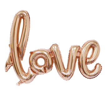 LOVE wedding one-piece lettered aluminum balloon