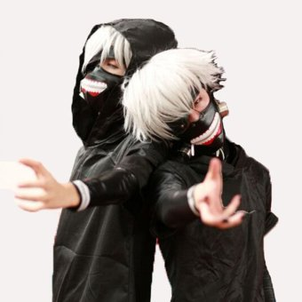 NEW Tokyo Ghoul Kaneki Ken Adjustable Masks Cosplay Mask Halloween Party Prop