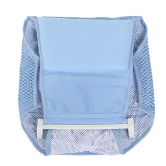 Newborn Infant Bathtub Net Shower Support Safe Bathing Sling BabyToddle Bath Seat (Blue) - intl