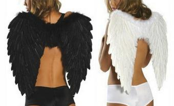 niceEshop Angel Feathers Wings Costume Fairy Fancy Ball forHalloween Christmas Holiday Party, Black, 23.6x18'' - intl