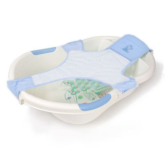 PAlight Adjustable Newborn Baby Bathtub Rings Safety Seat (Blue)