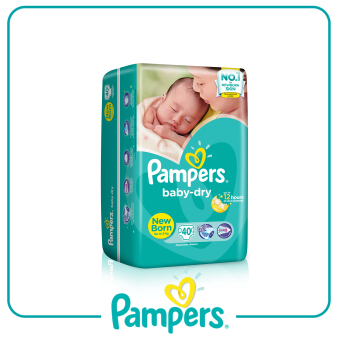 Pampers Baby-dry Taped Diaper NB 40pc x 4 Pack