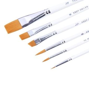 Professional 6pcs Paint Brushes for Artist Acrylic Oil WatercolorsPaintings, Nylon Brush Set - intl