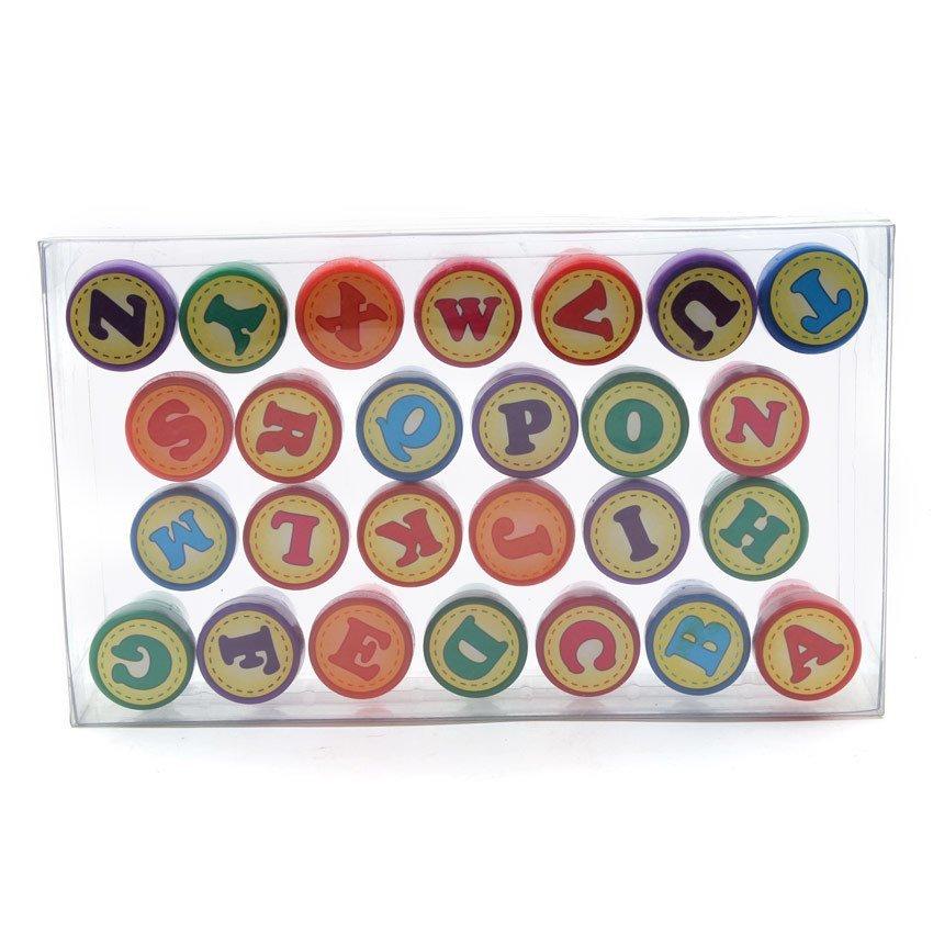 Young mindz alphabet self inking stamp set multicolor for Self inking letter stamps