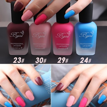 30 Colors Scrub Matte Tasteless Candy Color Nail Art Polish 16ml - intl