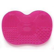 360DSC Cosmetic Makeup Silicone Brush Cleaning Pad Washing Scrubber Mat with Suction Cup - Rosy -