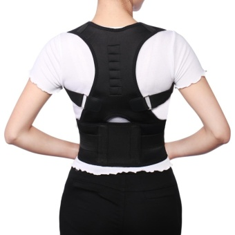 Adjustable Posture Corrector Magnetic Position Correction Brace Support Back Belt - intl