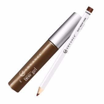 Advance Brow Gel And Silky Brow Pencil (Golden Brown And Caramel)