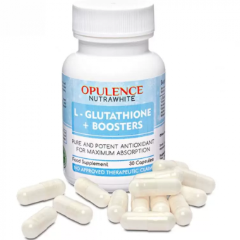 AUTHENTIC Opulence Nutrawhite L-Glutathione Plus Boosters Whitening Anti-aging Capsules Bottle of 30