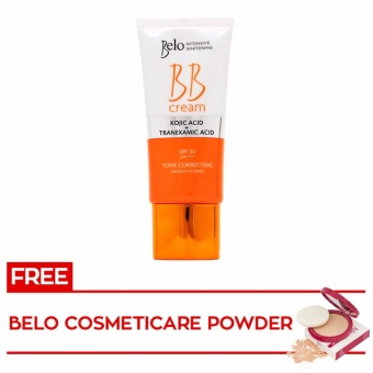 BELO INTENSIVE WHITENING BB CREAM 50mL with FREE Belo Cosmeticare Face Powder 12g