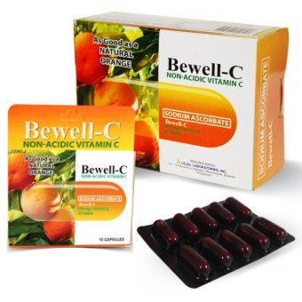 Bewell-C Non- Acidic Vitamin C supplement 500mg Capsules Box of 100 capsules