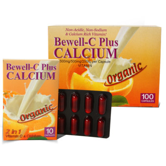 Bewell-C Plus CALCIUM 2 in 1 Vitamin C with Calcium Supplement 1000mg Capsules Box of 100