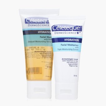 Celeteque DermoScience Hydration Facial Wash and Moisturizer Set