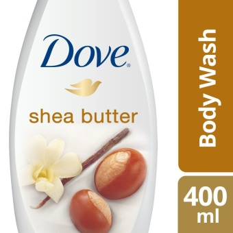 DOVE BODY WASH SHEA BUTTER 400ML .