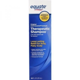 Equate Original Anti-Dandruff Formula Therapeutic Shampoo, 8.5 Fl Oz (2.5% USP Topical Coal Tar Solution) Compare to Neutrogena T/Gel Therapeutic Shampoo - intl