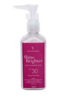 Fairness and Flawless Shine Brighter Instant illuminating lotion