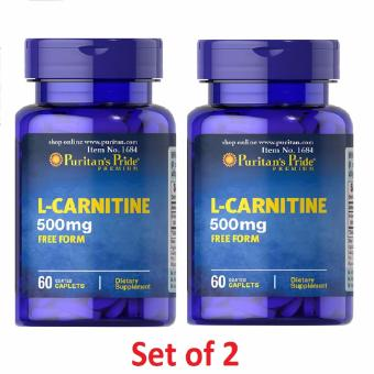 L-Carnitine 500mg 60 tablets, Fat Burner for Weight Loss, Puritan's pride