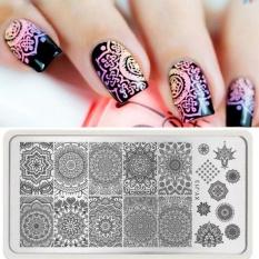 Moonar Nail Art Diy Tips Blue Film Printed Nail Art Stamp Template