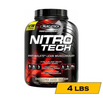 MuscleTech Nitro-Tech Performance Series Muscle Building Whey Protein Shake - 4lbs - Cookies and Cream