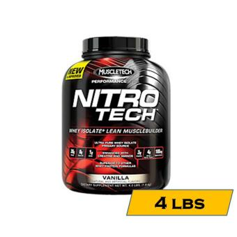 MuscleTech Nitro-Tech Performance Series Muscle Building Whey Protein Shake - 4lbs - Vanilla