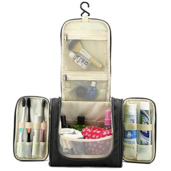 niceEshop Portable Hanging Toiletry Bag Waterproof Travel Kit Organizer Cosmetic Bag Toiletry Bag With Hanging Hook - intl