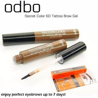odbo 6D Tattoo Brow Gel Secrets Color Eyebrow Tint (Deep Brown)