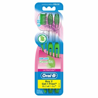 Oral-B Ultra Thin Green Tea 3s Extra Soft Toothbrush