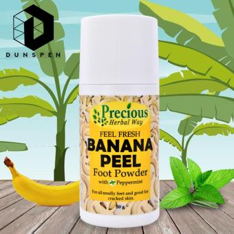 Precious Herbal Way Banana Foot Powder with Peppermint