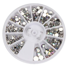Round 3D Acrylic Nail Art Gems Crystal Rhinestones DIY Decoration Wheel - intl Philippines