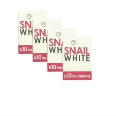 Snail White 10x Whitening Soap Set of 4 with free Silicone Digital Watch ( color may vary) Philippines