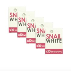 Snail White 10x Whitening Soap Set of 5 with free Silicone Digital Watch ( color may vary) Philippines