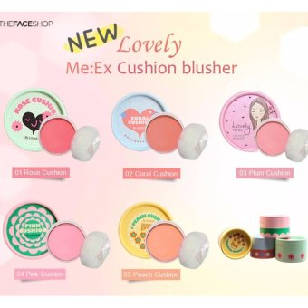 The Face Shop Lovely Me:ex Pastel Cushion Blusher (Rose) From korea