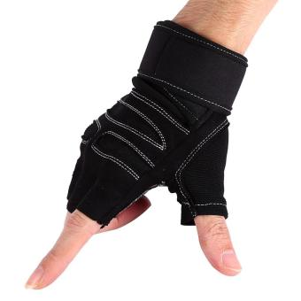 2 Pcs Weight Lifting Gym Training Fitness Gloves(Black/XL) - intl
