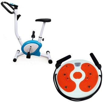 easy exercise bike blackwhite with training massage foot twistertrimmer board orange