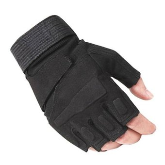 Half-finger Hunting Riding Sport Cycling Parkour Fitness Gym gloves- intl
