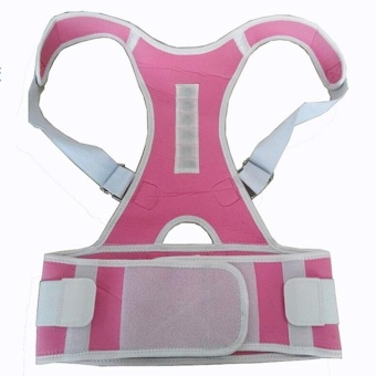 Magnetic Back Posture Corrector Back Shoulder Support Brace BeltBack Posture Correction Belt XL - intl