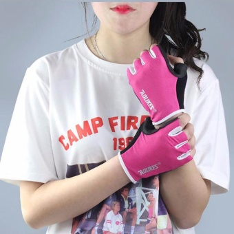 Men Women Anti-skid Breathable Gloves Gym Sport Fitness Exercise Weight Lifting - intl