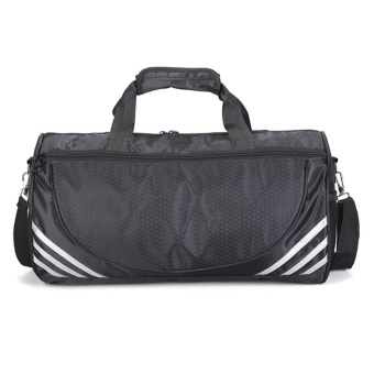 Mens Womens Holdall Gym Bag Sports Duffel Bag with Shoes Compartment for Weekender, Overnight 45cm x 23cm x 23cm - intl