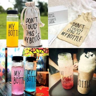 My Bottle 500ML Simple Style Portable Clear Plastic Lemon Fruit Juice Drinking Bottle Water Cup With Bag Bidon Cycling Bottle - intl