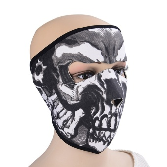 Skeleton mask full face mask by bike Full face masks to protect themouth Revolver mask - intl