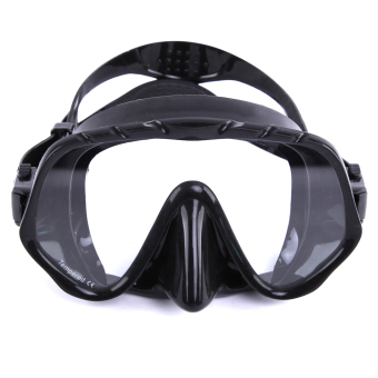Whale Brand Seal Silicone Skirt Strap Snorkel Scuba Dive Mask &Goggle with Great Vision & Tempered Glass Diving Equipment(Black)