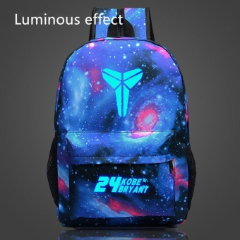 18 inches Kobe Bryant Pattern Luminous Backpack Sports School Bagsfor Teenagers Boys and Girls Starry - intl
