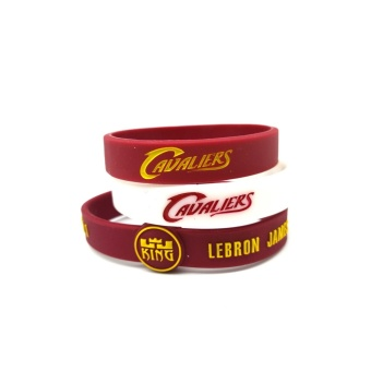 3pcs SportsBraceletsPro Adjustable Team Bracelets Kid to Adult SizeLebron James - intl