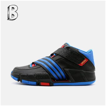 Adidas real professional tournament athletic shoes basketball shoes (Superior blue/white/1 No. Black)